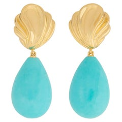 Exceptional Tiffany & Co. Gold and Turquoise Earrings