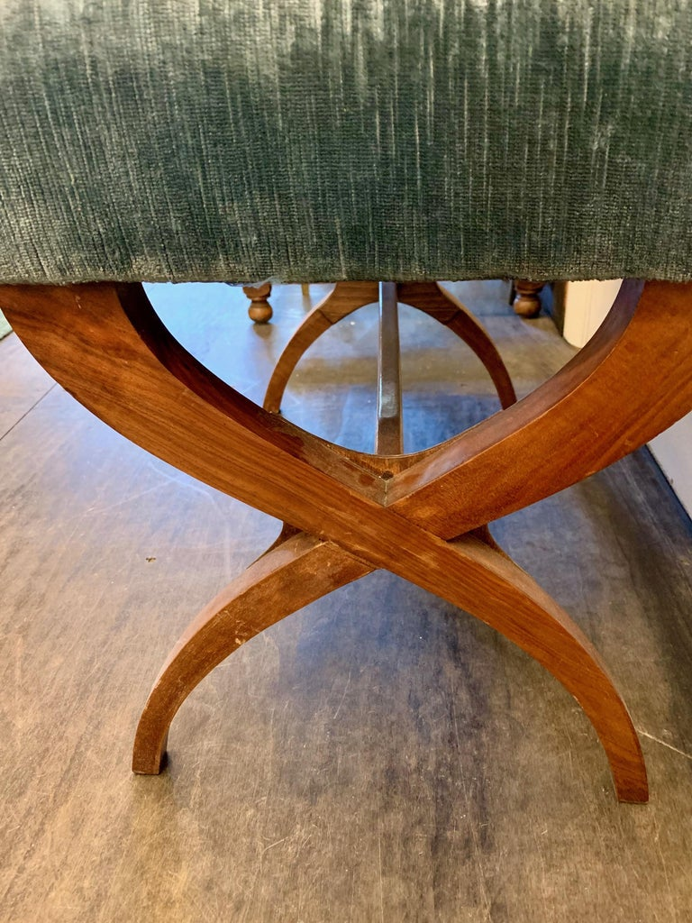Exceptional Tomaso Buzzi Mahogany Bench For Sale 1