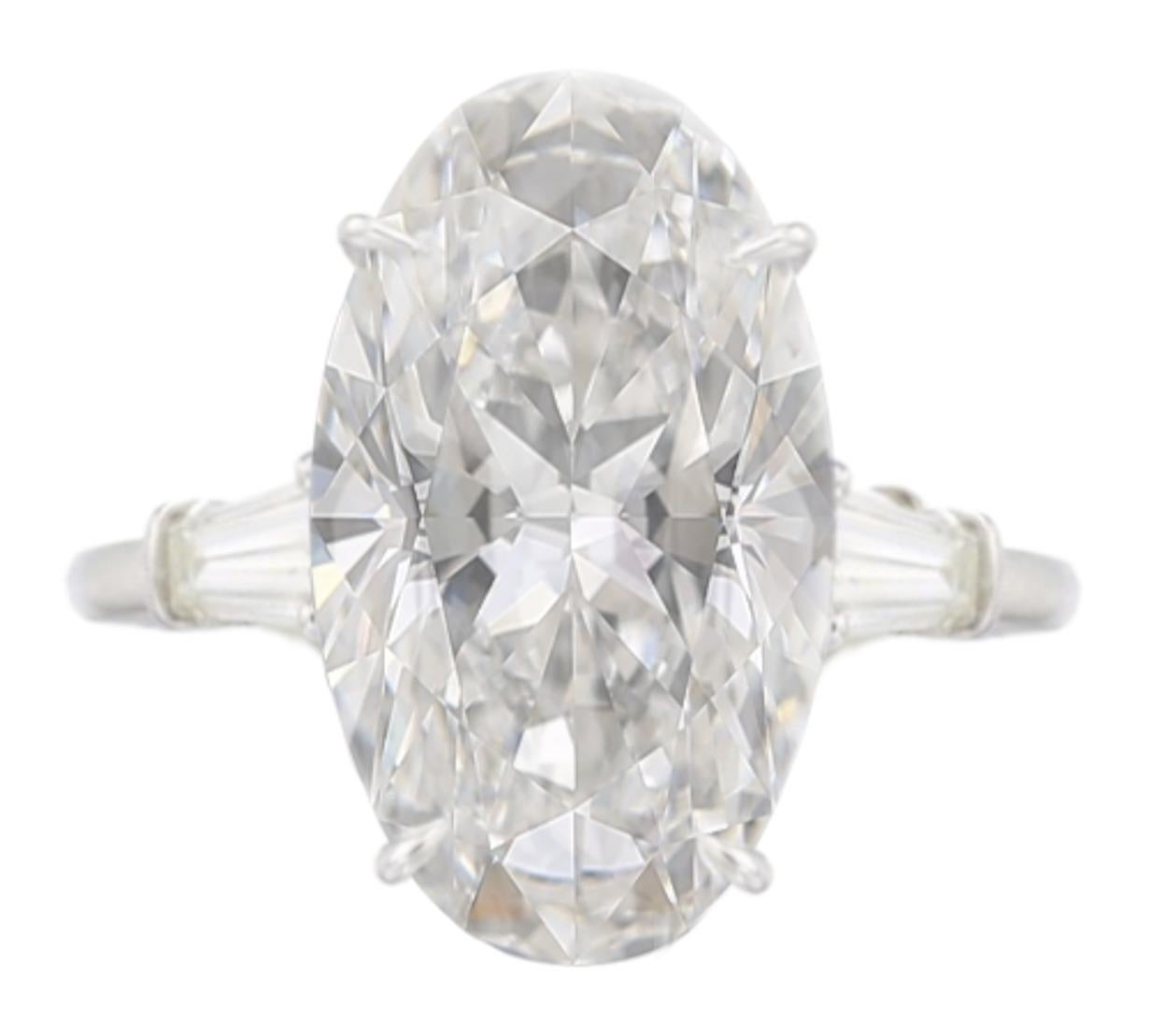 Exceptional Type 2a GIA Certified 7 Carat Oval Diamond Ring