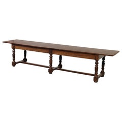 Exceptional Very Large Italian 17th Century Minimal Convent Table