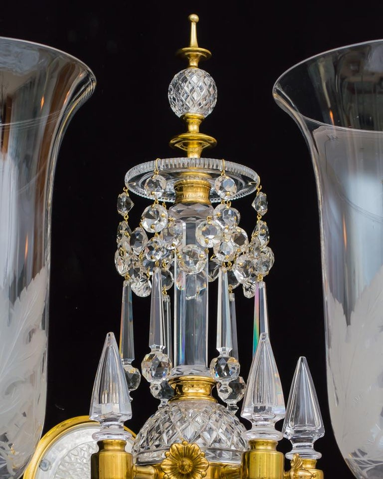 Exceptional Victorian Chandelier and Pair of Wall Lights by F&C Osler For Sale 6