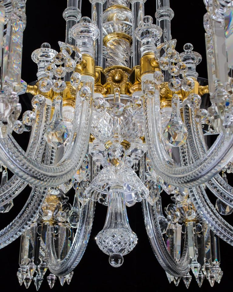 British Exceptional Victorian Chandelier and Pair of Wall Lights by F&C Osler For Sale