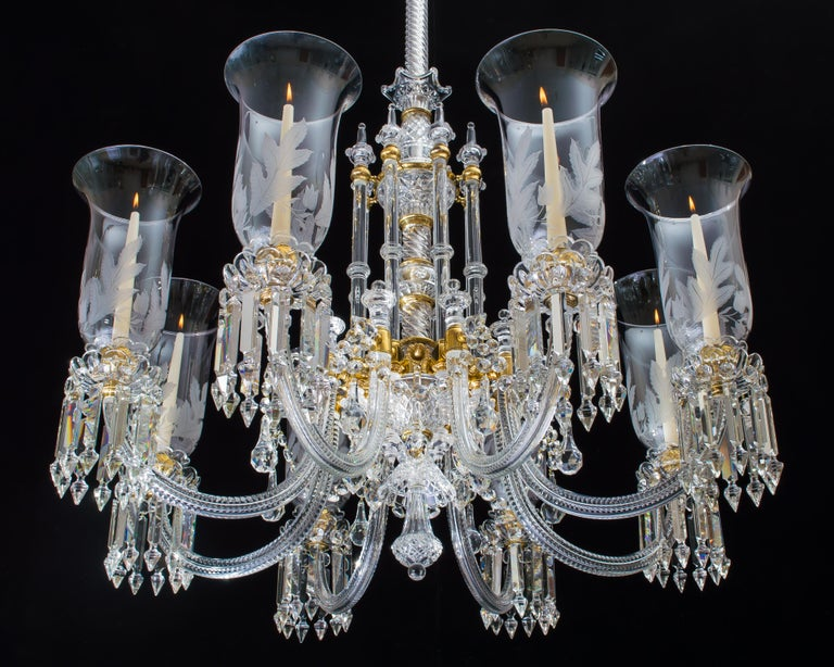 Silver Plate Exceptional Victorian Chandelier and Pair of Wall Lights by F&C Osler For Sale