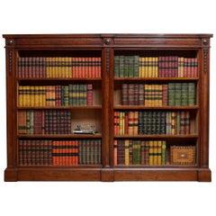 Exceptional Victorian Mahogany Open Bookcase