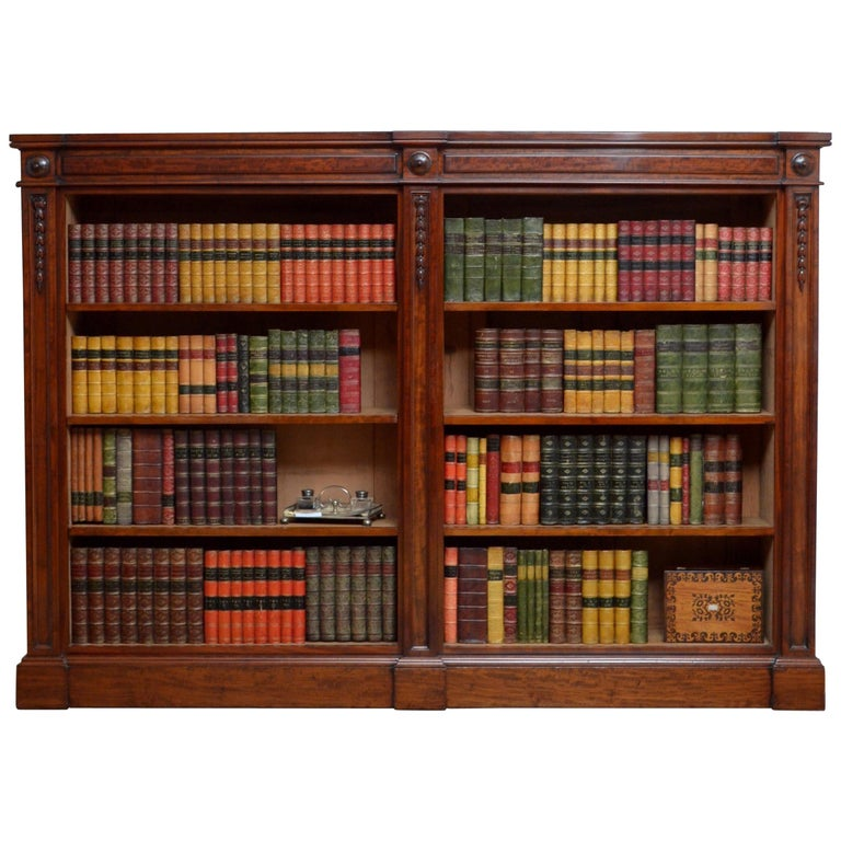 Exceptional Victorian Mahogany Open Bookcase For Sale At