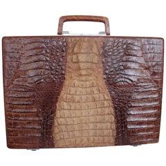 Exceptional Vintage Brown Crocodile Briefcase