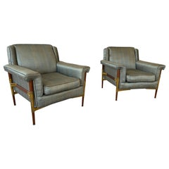 Exceptional Vintage Pair of Italian Armchairs
