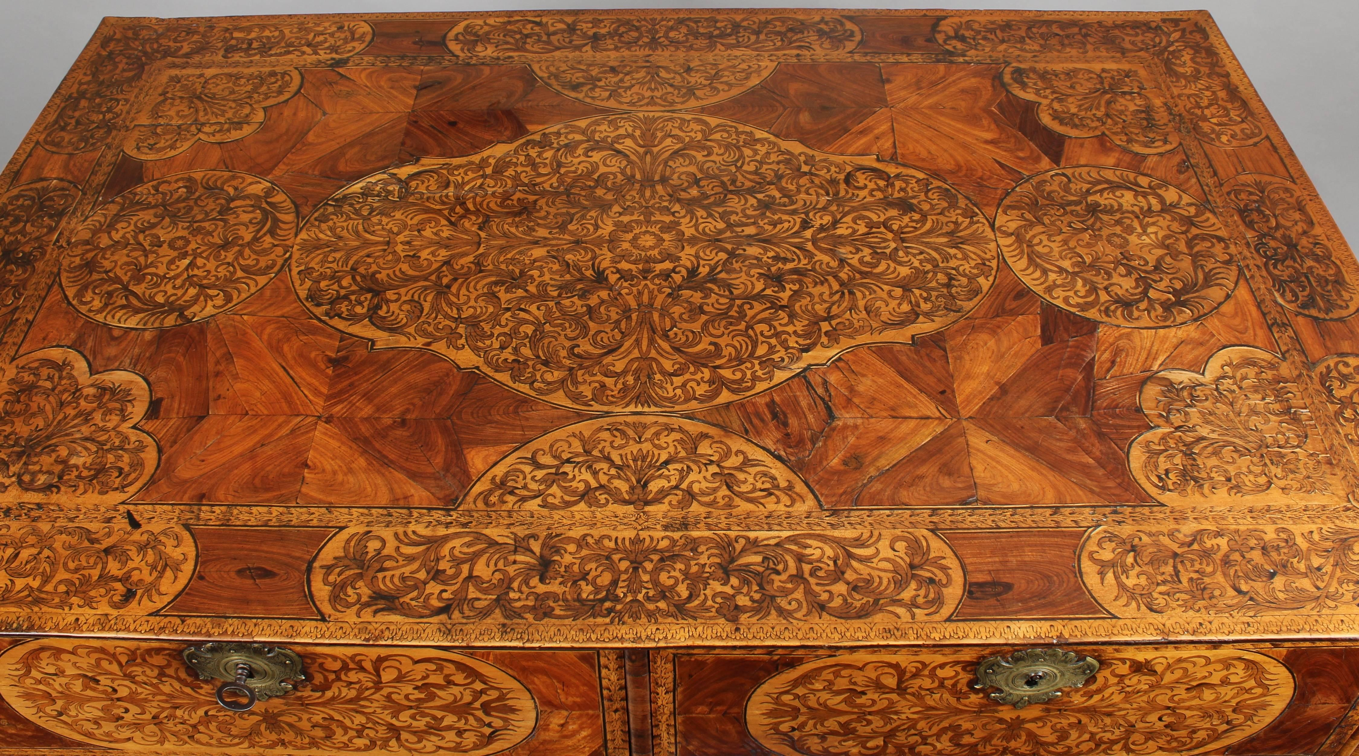 Exceptionally Fine William & Mary Period Chest on Stand