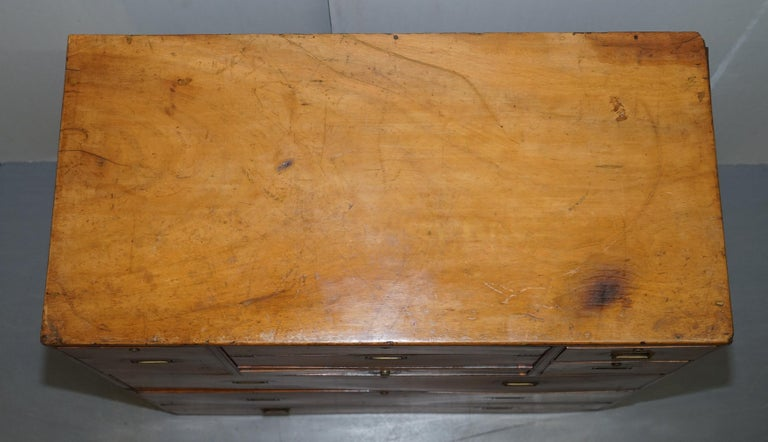 Hand-Crafted Exceptionally Rare circa 1860 Walnut Military Officers Campaign Chest of Drawers For Sale