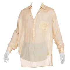 Exceptionally Rare French Silk Pullover 1910's 1920's Mens Shirt