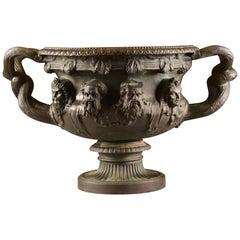 """Exceptioneel Big Bronze """"Warwick"""" Vase '1', Bronze 'Patinated', 1850-1880"""