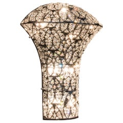 Exclamation Small Wall Sconce, Chrome Finish, Arabesque Style, Italy