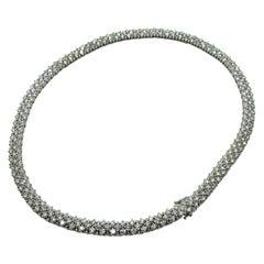 Exclusive 18 Karat Gold and Diamonds Italian Necklace