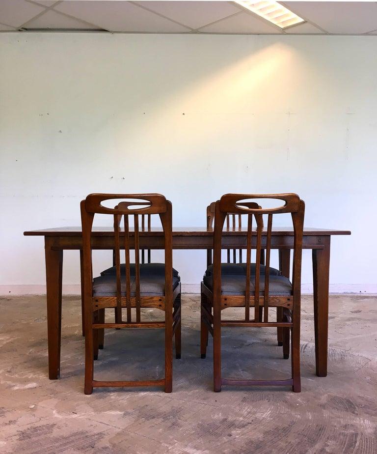 Dutch Exclusive and Elegant Art Deco Style Dining Room Set by Schuitema en Zonen For Sale