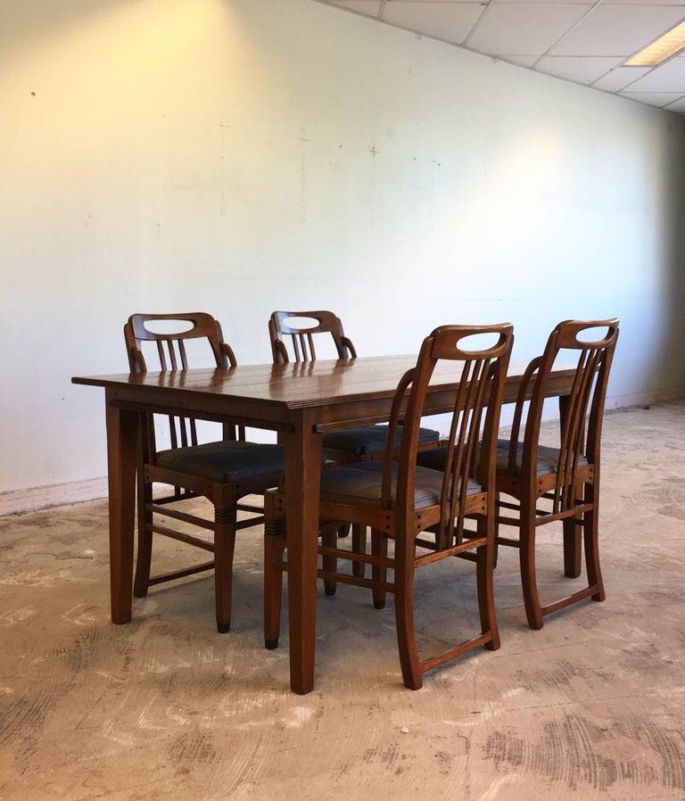 Exclusive and Elegant Art Deco Style Dining Room Set by Schuitema en Zonen In Good Condition For Sale In Schagen, NL