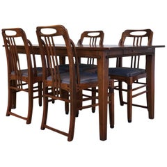 Exclusive and Elegant Art Deco Style Dining Room Set by Schuitema en Zonen