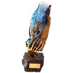 Exclusive Carrera y Carrera's Sculpture in 18k Gold Inverell Australian Opal