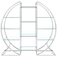 Exclusive Chrome Omega Shelf from Abhika Mod. Austin-Shelf