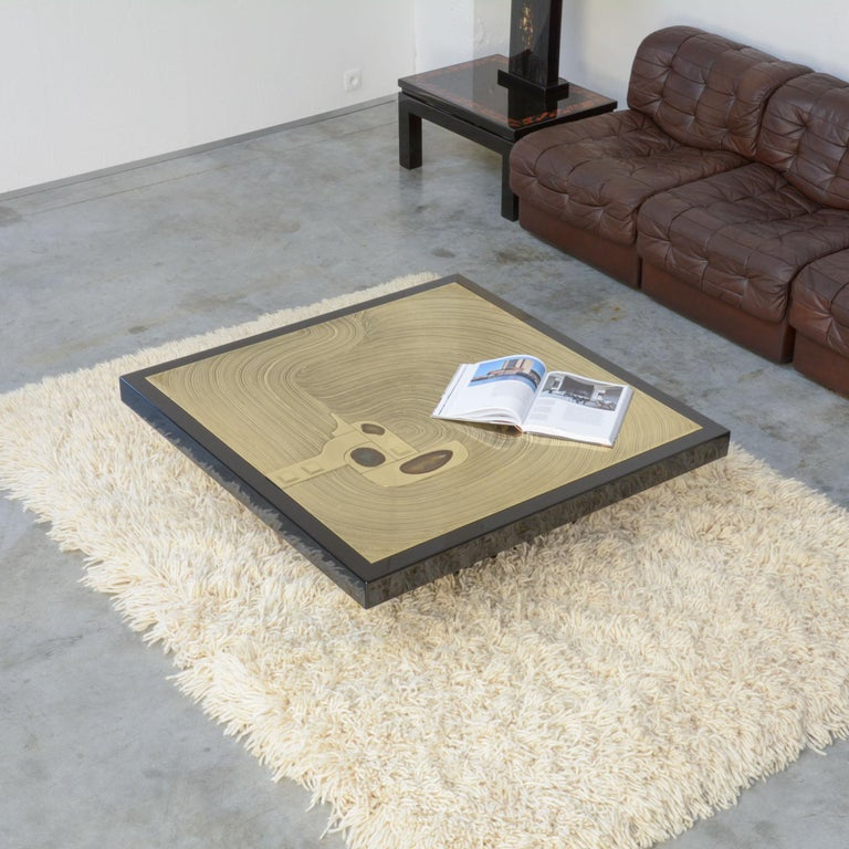 Exclusive Coffee Table by Jean-Claude Dresse For Sale 3
