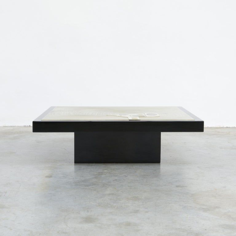 Modern Exclusive Coffee Table by Jean-Claude Dresse For Sale