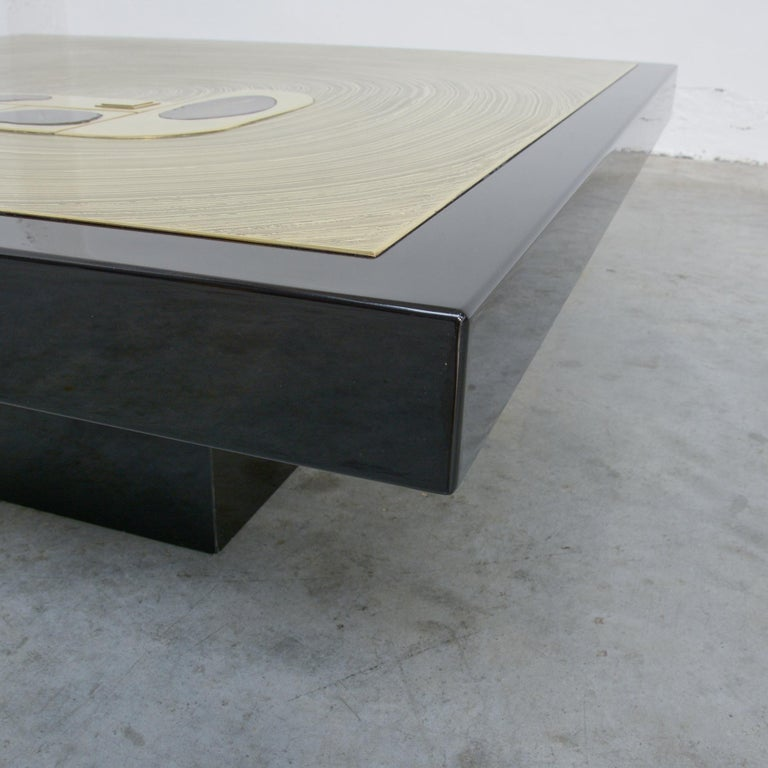 Belgian Exclusive Coffee Table by Jean-Claude Dresse For Sale