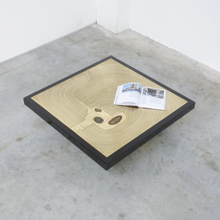 Exclusive Coffee Table by Jean-Claude Dresse For Sale 2