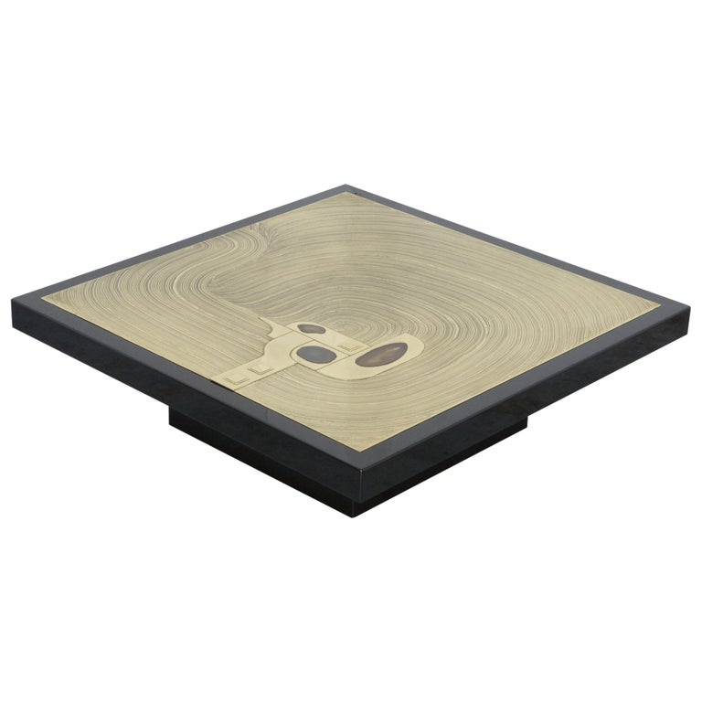 Exclusive Coffee Table by Jean-Claude Dresse For Sale