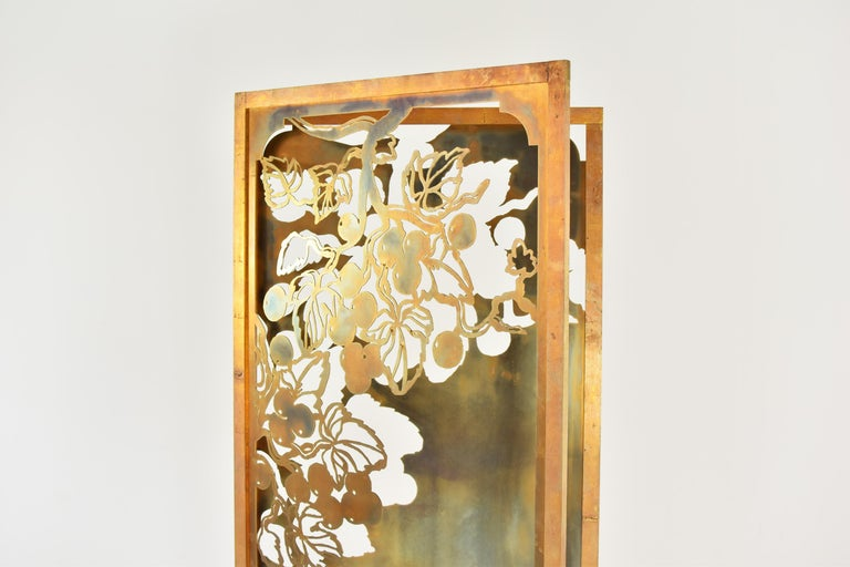 Hollywood Regency Exclusive Decorative Folding Screen Designed for Dries Van Noten, 1980's For Sale