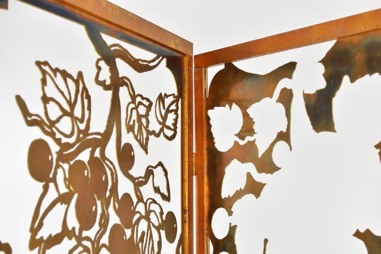 Belgian Exclusive Decorative Folding Screen Designed for Dries Van Noten, 1980's For Sale