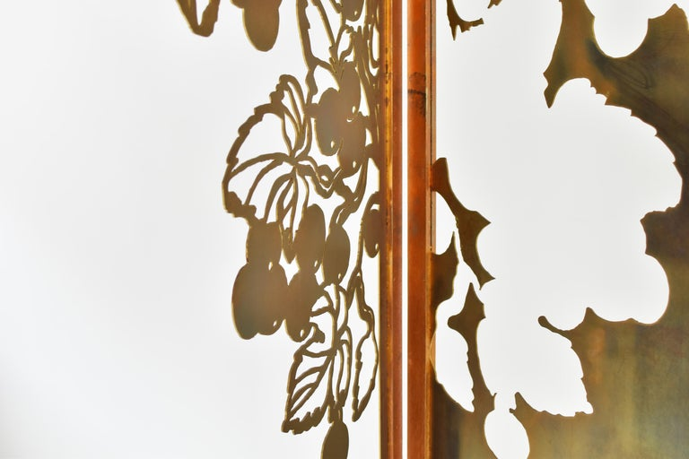 Exclusive Decorative Folding Screen Designed for Dries Van Noten, 1980's In Good Condition For Sale In Antwerp, BE