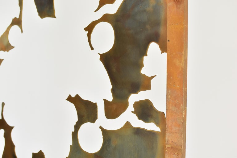 Brass Exclusive Decorative Folding Screen Designed for Dries Van Noten, 1980's For Sale