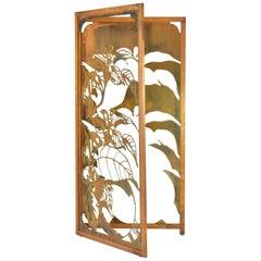 Exclusive Decorative Folding Screen Designed for Dries Van Noten, 1980's