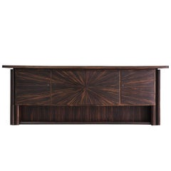 Exclusive French 1940s Art Deco Credenza in Macassar