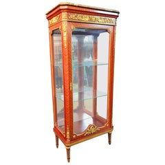 Exclusive French Vitrine in Louis XVI Style Blond Mahogany