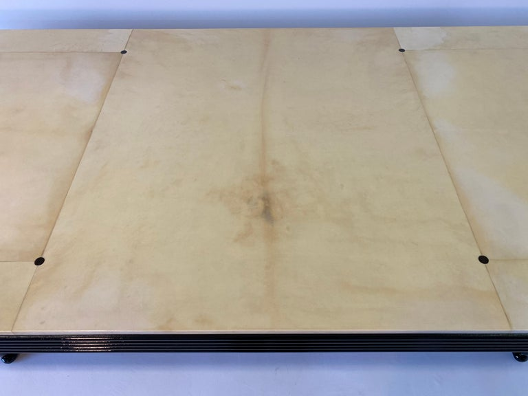 Exclusive Italian Art Deco Parchment Dining Table, 1940s For Sale 2