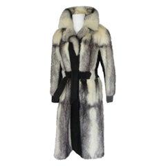 Exclusive Kohinoor Cross Mink Long Fur Coat