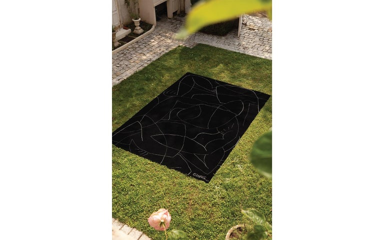 Modern Exclusive Limited Edition Artistic Rug Signed by Benjamin Ewing For Sale