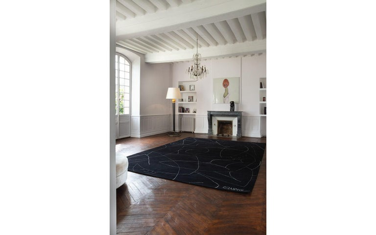 Egyptian Exclusive Limited Edition Artistic Rug Signed by Benjamin Ewing For Sale