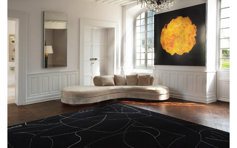 Hand-Knotted Exclusive Limited Edition Artistic Rug Signed by Benjamin Ewing For Sale