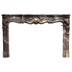 Exclusive Mantel of Marbre de Boulogne in Style of Louis XV