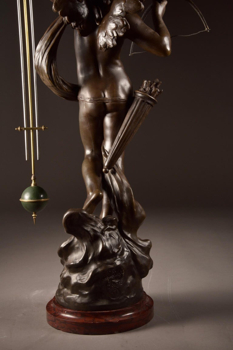 Exclusive Mysterious Clock with Putti, Aug. Moreau '1834-1917' For Sale 3