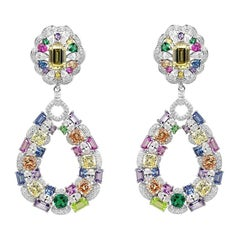 Exclusive Natkina Synthetic Sapphire Gold-Plated Silver Dangle Earrings