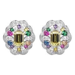 Exclusive Natkina Synthetic Sapphire Semi-Jolie Gold-Plated Silver Stud Earrings