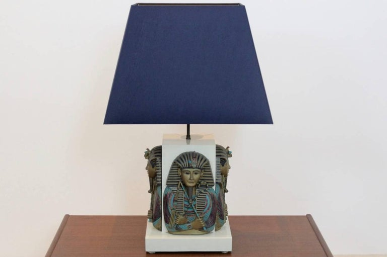 Exclusive Pharaoh Toetanchamon Table Lamp, France 1950s For Sale 3