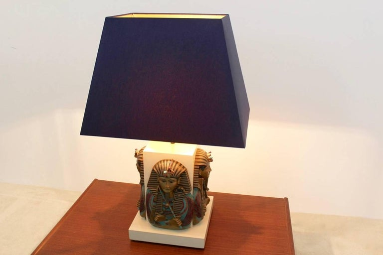 Exclusive Pharaoh Toetanchamon Table Lamp, France 1950s For Sale 4