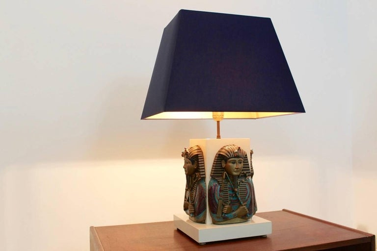 20th Century Exclusive Pharaoh Toetanchamon Table Lamp, France 1950s For Sale