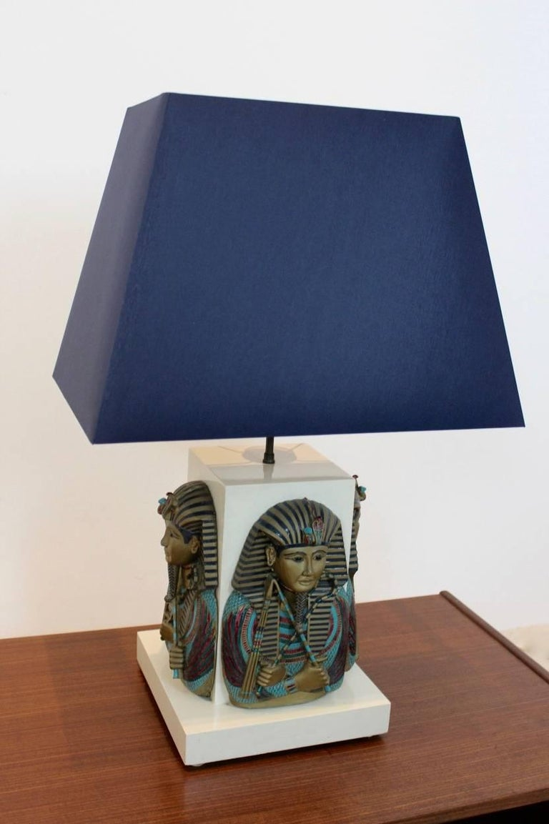 Exclusive Pharaoh Toetanchamon Table Lamp, France 1950s For Sale 1