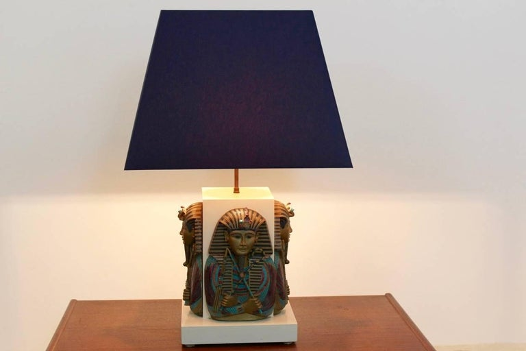 Exclusive Pharaoh Toetanchamon Table Lamp, France 1950s For Sale 2