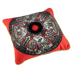 Exclusive Pillow, Velvet, Lambskin and Leather