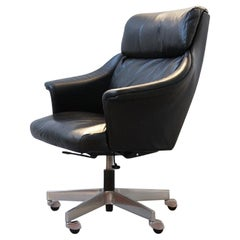 Executive Chair Giroflex 7041 by Martin Stoll, 1960s, Genuine Leather